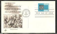 US SC # UX53 Crowd And Census Bureau Card .Postal Card FDC. Artcraft Cachet