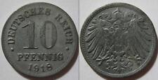GERMANIA - DEUTSCHES REICH - RARA MONETA DA 10 PFENNING - 1918