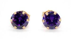 9kt Yellow Gold Amethyst 1.31ct Stud Earrings