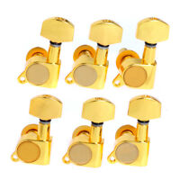 6L Gold Electric Acoustic Guitar String Tuning Pegs Machine Heads Tuners Inline