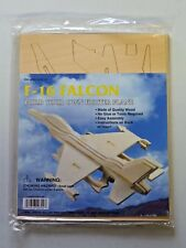 Build Your Own Wooden Fighter Plane F-16 Falcon New In Package