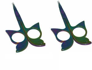 2 Packs Home-X Butterfly Facial Hair Scissors Eyebrow Scissors Cuticle Scissors