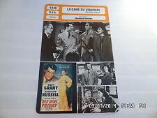 CARTE FICHE CINEMA 1940 LA DAME DU VENDREDI Cary Grant Rosalind Russell Bellamy