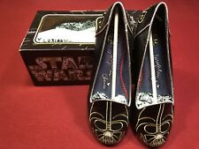 Disney Womens's Star Wars Darth Vader Irregular Choice Flat Shoes Size 9 - NEW