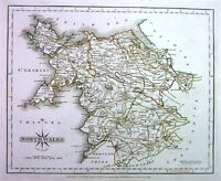 Antique map, North Wales .
