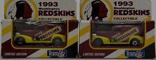 2 Matchbox 1993 Team Washington Redskins Chevy Delivery Truck NIB