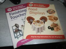 Dolls house DIY books food  displays and finishing touches