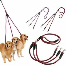 Nylon 3 Way Dog Coupler Leads Triple Leash No Tangle Adjustable for Three Dogs·