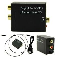 3.5mm Jack Digital to Analog Audio Converter Optical Fiber Coaxial Signal Stereo