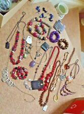 JOB LOT Jewellery New & Used Necklace Bracelet Pendant Beads Earrings