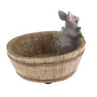 Planter Gray Rabbit Flower Cactus Succulent Plant Pot Box Container