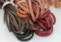 Flat Braided Leather Rope Cords DIY Bag Jewelry necklace Bracelet Craft String