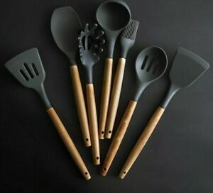Silicone Kitchen Tools Set Cooking Tools Utensils Set Spatula Shovel Soup Spoon