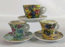 Set of Three Miniature Tea Cup and Saucer Candles Floral