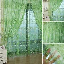 Scarf Door Printing Floral Tulle Voile Door Window Curtain Drape Panel Valance