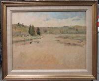 Alice Mongeau Contemporary Impressionist Ptg Cape Cod Marsh Listed Cape Artist