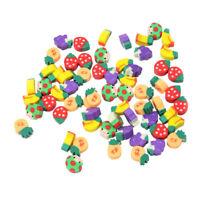 50pcs Mini Fruit Shaped Rubber Pencil Eraser Novelty Stationery Children Gift
