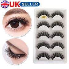💙5 Pairs 3D False Eyelashes Mink Wispy Cross Long Thick Soft Fake Eye Lashes💙