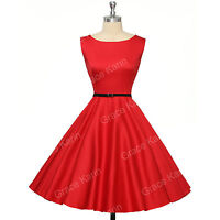 50s 40S Vintage Blue Red Black Polka Dot Ladies Dress size XS-XL PLUS