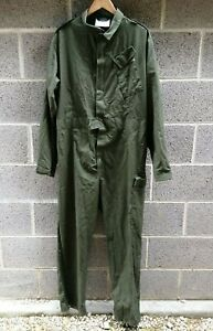 British Army Olive Green Coveralls Overall Boiler Suit Garage Mechanic Workshop
