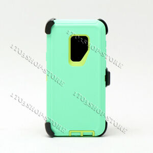 For Galaxy S9 / Galaxy S9+ Plus Defender Hard Case Cover w/Holster Belt Clip