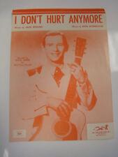 1954 I DON'T HURT ANYMORE SHEET MUSIC HANK SNOW JACK ROLLINS