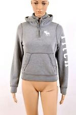 Abercrombie & Fitch Muscle Fit melange Grey Hoodie Sweatshirt L Boys ladies M
