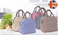 Striped Insulated Thermal Cool Picnic Lunch Ice Bag Waterproof Lunchbox Case