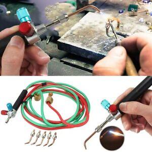 Welding Soldering Kit Hot Jewelry Jewelers Micro Mini Gas Little Torch 5 Tips US