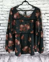 Knox Rose Gorgeous Floral Blouse Women's size  XXL