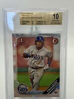 Wander Franco 2019 1st Bowman BGS 10 PRISTINE Tampa Bay Rays #1 Prospect