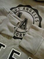Mens Hollister Grey Loose Fit Long Sleeve Crew Neck Sweatshirt Size Large L