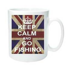 GO FISHING KEEP CALM AND CARRY ON Novelty Mug Tea Coffee Gift Cup Retro Present