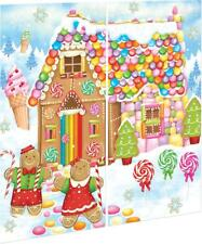5ft Gingerbread House Christmas Snow Scene Setter Party Wall Decoration Backdrop