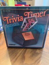 Temporizador de Trivia Tiger Toys 1984 Electrónico Programable Temporizador de cuenta regresiva Nuevo Sellado