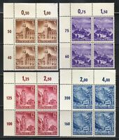 Germany 1941 MNH Mi 806-809 Sc B194-B197 Annexation of Styria and Carinthia **
