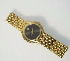 Movado Women's 87E3817 Museum Black Analog Dial Gold Tone Steel Watch Parts
