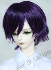 "1/3 8-9"" BJD Wig LUTS Pullip SD LUTS Doll Dollfie Wig Short Purple Hair"