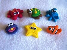 Birthday Cake Cupcake Toppers Edible Sea Critters X 6