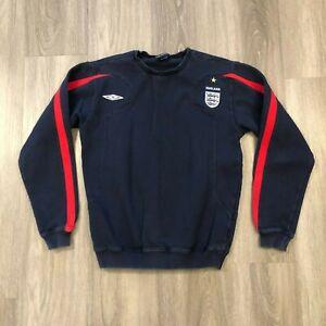 Umbro England Soccer Youth XL Navy Pullover Crewneck Sweatshirt