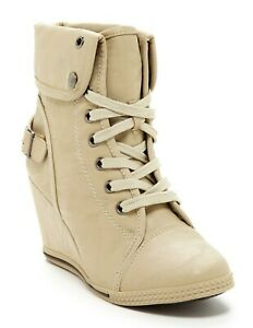 Bucco Capensis Women's Ankle Boot Beige Size 8 US. Agneta Style Laced shoes -New