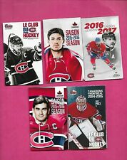 5 X 2000S  MONTREAL CANADIENS POCKET SCHEDULE MINT  (INV# C3350)