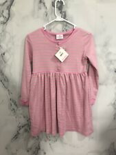 NEW Hanna Andersson Girl's Long Sleeve Play Dresses 100% Cotton 130 7-10 Years