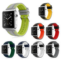 Sport Silicone Replacement Strap Bracelet for Apple Watch Band Series se 6 5 4 3