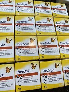 open box - 100 Freestyle Lite Blood  Test Strip Exp2022 open box-