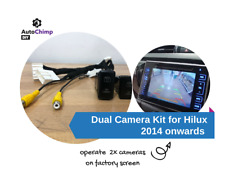 Dual Camera Kit for Toyota Hilux Factory Screen   2014 to 2018