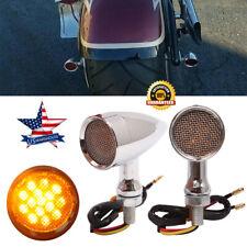 Chrome Motorcycle LED Turn Signals Lights Blinker For Harley Sportster 1200 883