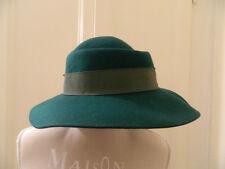 Cappello vintage in lana verde green vtg wool hat