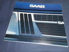 1982 Saab 900 900S and Turbo USA Market Color Brochure Prospekt