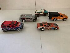 Hot Wheels Hummer, Firebird F/C, Penske Bus, Backwoods Bomb, Lot of 4